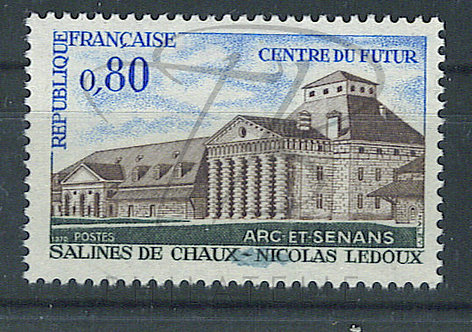France n°1651 , tâche en bas , **
