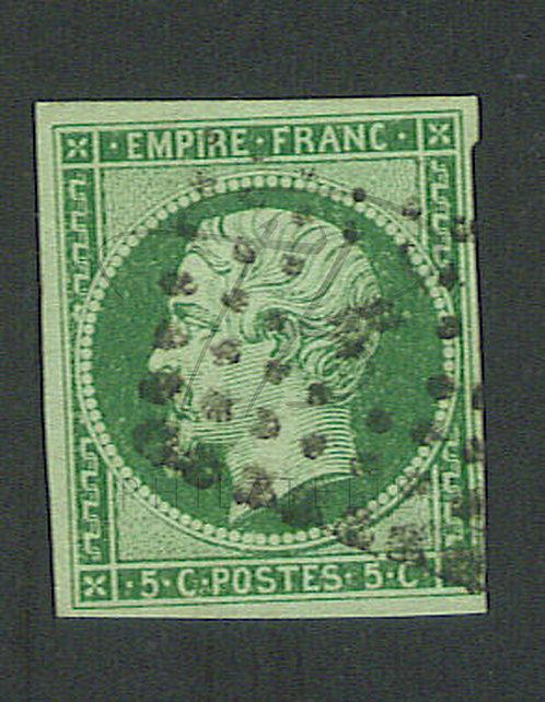 France n°12c , vert foncé sur vert
