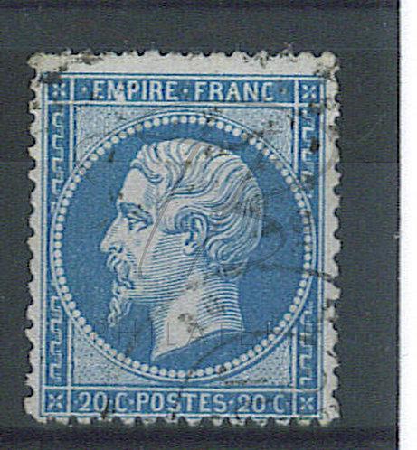 """France n°22 , tâche blanche sur le """"M"""" de """"EMPIRE"""""""