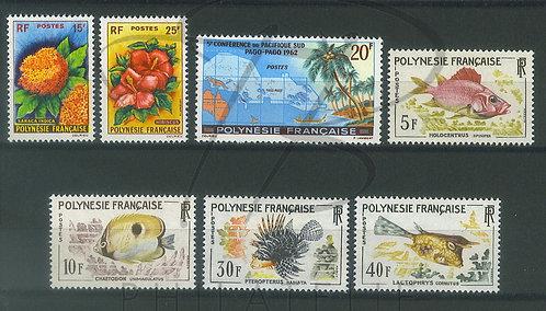 Polynésie française année 1962 , **