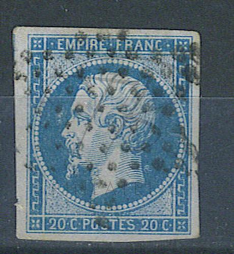France n°14A , anneau de lune derrière la nuque
