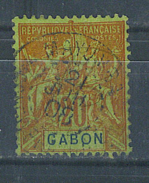 """Gabon n°22 , cachet """"MAYUMBA"""""""