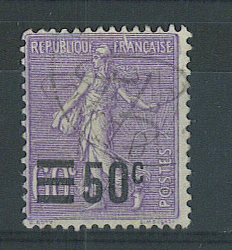 France n°223 , trait blanc en haut
