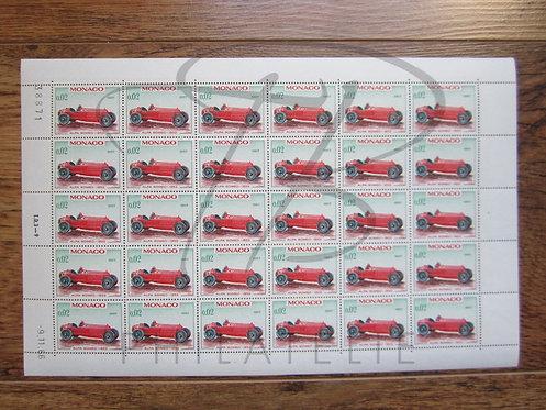 Monaco n°709 , en feuille entière , **