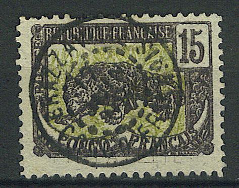 "Congo n°32 , ""BRAZZAVILLE"" , filigrane renversé"