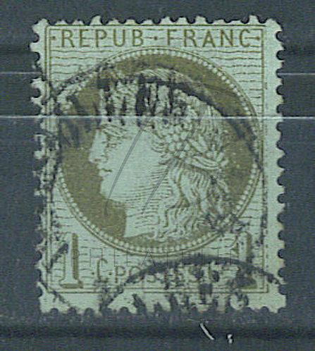 France n°50b , trait inférieur du cadre brisé (a)