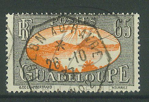 """Guadeloupe n°111 , cachet """"COLON AU HAVRE"""" L.N°2"""