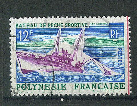 Polynésie française n°38 , trait rouge à droite