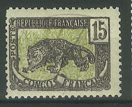 Congo n°32 , filigrane renversé , *