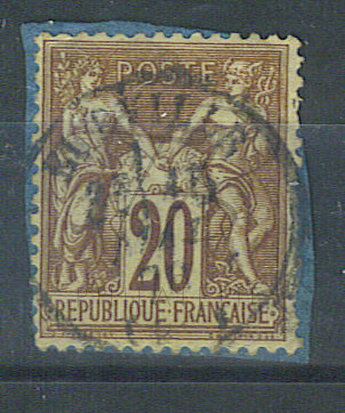 """France n°67, cachet """"EURVILLE"""""""