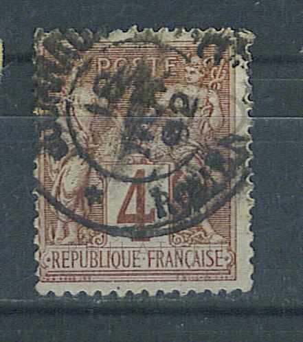 """France n°88 , cachet """"ROUEN PP JOURNAUX"""""""
