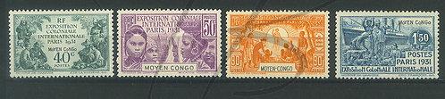 Congo n°109-112 , *