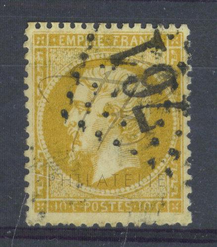 France n°21+variété, G.C. 761 : Castelnau-Magnoac