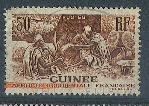 Guinée n°135 , ligne rouge en bas