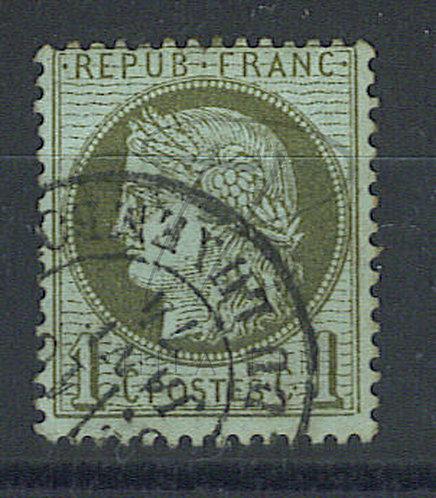 France n°50d , fond ligné (a)