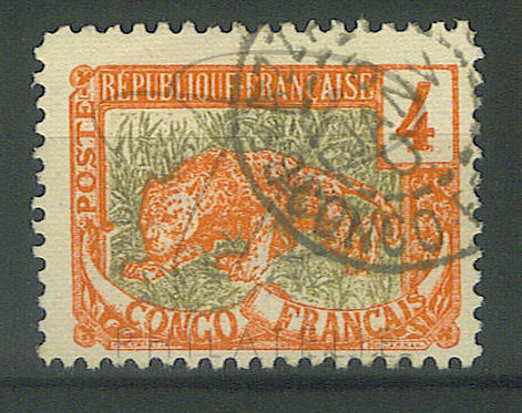 "Congo n°29 , cachet ""BRAZZAVILLE"""
