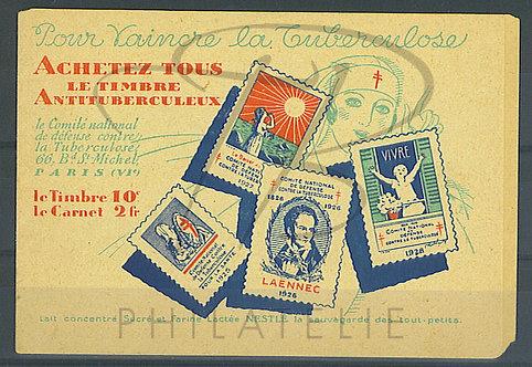Carnet antituberculeux 1929
