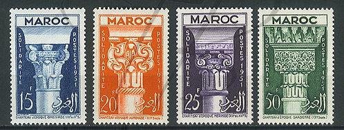 Maroc n°315-318 , **