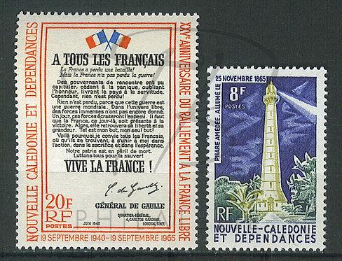 Nouvelle-Calédonie n°326+327 , **