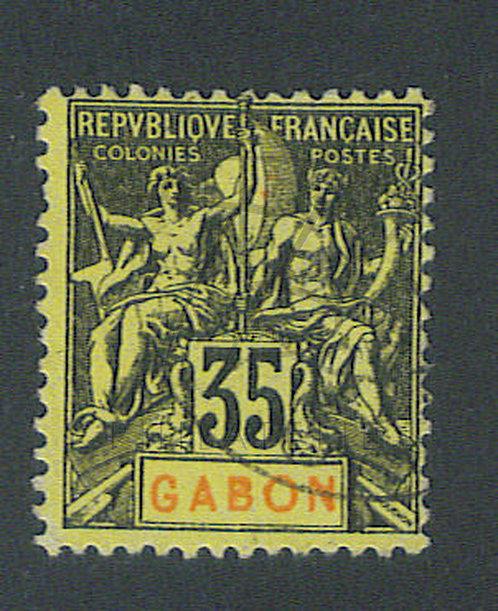 Gabon n°25 , (a)