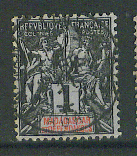 """Madagascar n°28 , cachet """"TANANARIVE"""""""