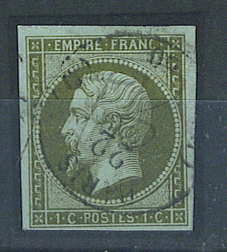 """France n°11, cachet """"PARIS (C)"""", signé"""