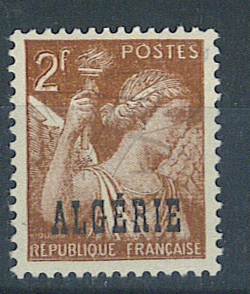 Algérie n°234 , double impression , *