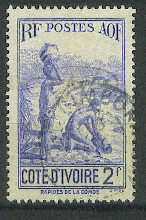 """Côte d'ivoire n°128 , cachet """"DIMBOKRO"""""""