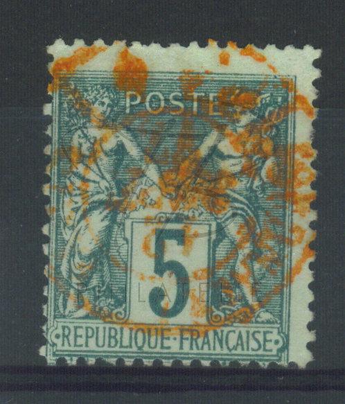 France n°75IIB, cachet rouge des journaux (b)