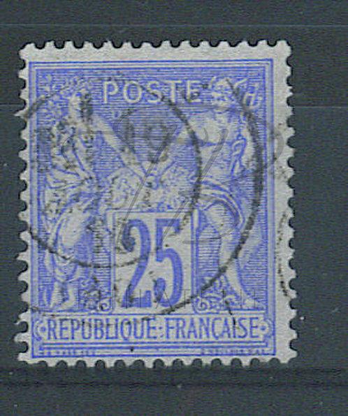 """France n°78 ,anneau de lune sous le """"S"""" de """"POSTE"""""""