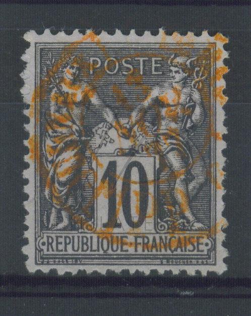 France n°89 , cachet rouge des journaux (b)