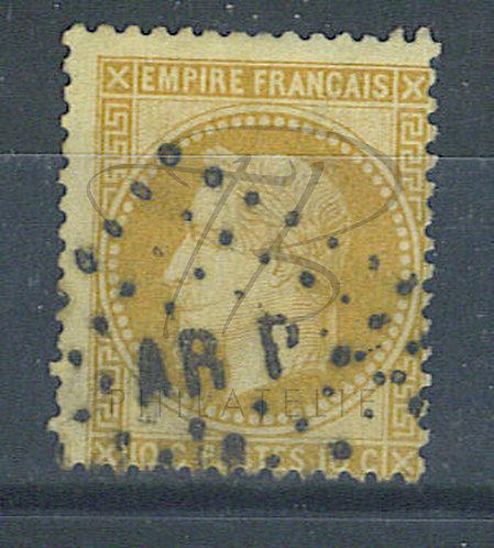"France n°28A, losange des ambulants ""AR P"""