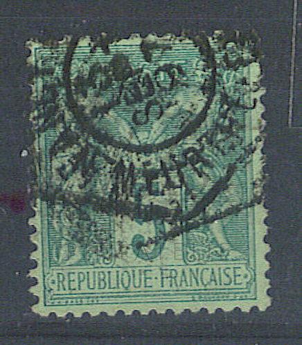 """France n°75, cachet hexagonal """"NANCY"""""""