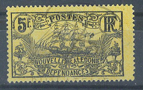 Nouvelle-Calédonie n°104a , noir sur jaune , *