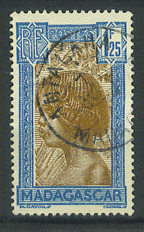 """Madagascar n°175B , cachet """"ANTALAHA"""""""