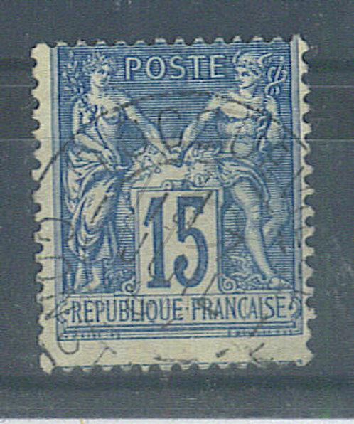 """France n°101 , cachet """"TOCQUEVILLE-CONSTANTINE"""""""
