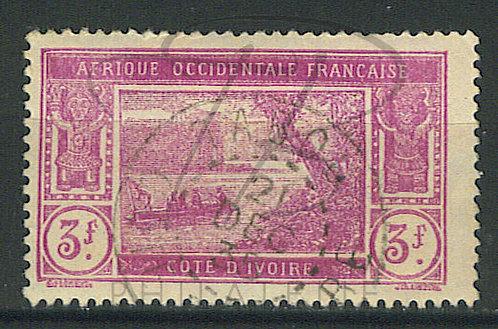 """Côte d'ivoire n°83 , cachet """"TABOU"""""""