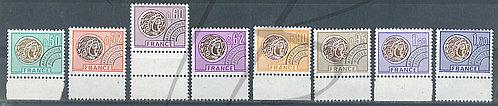 France préoblitérés n°138-145 + B.D.F.