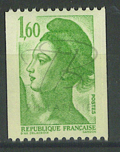 France n°2222 , trait en haut à gauche , **