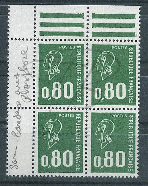France n°1891b en bloc de 4 + B.D.F. , **