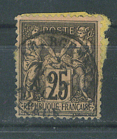 "France n°97 , cachet ""CHARGEMENTS ELBEUF"""