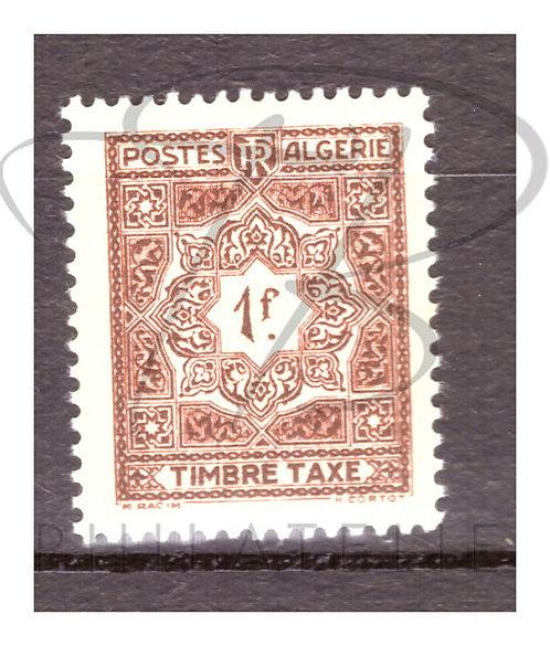 Algérie taxe n°37 , **