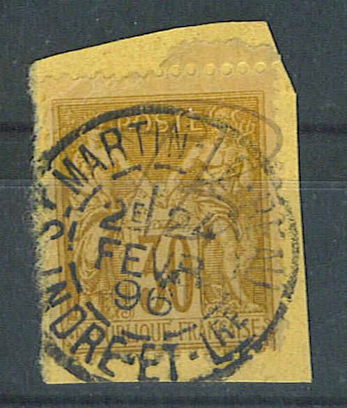 """France n°80 , cachet """"ST-MARTIN LE BEAU"""""""