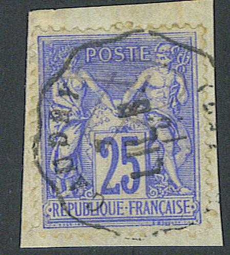 "France n°78, cachet convoyeur ""CAUDRY"""