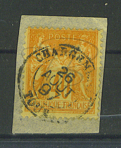 "France n°94 , cachet ""CHARGEMENTS TOURS"" (a)"