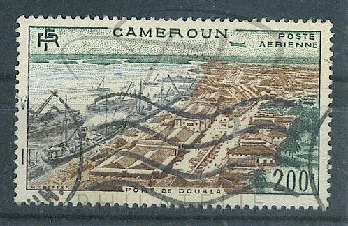 Cameroun P.A. n°48 , bateaux gris au lieu de bleu