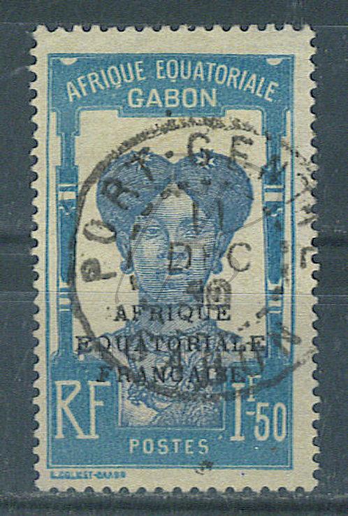 "Gabon n°119 , cachet ""PORT-GENTIL"""