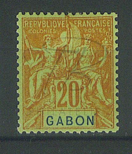 Gabon n°22 , * (d)