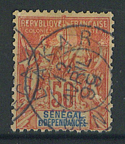 """Sénégal n°18 , cachet """"DAKAR"""""""
