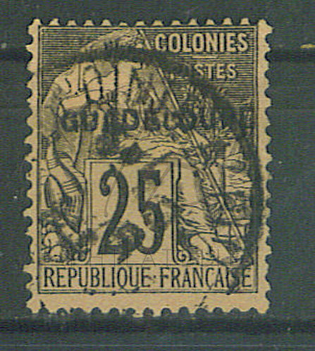 """Guadeloupe n°21 , cachet """"POINTE A PITRE"""""""